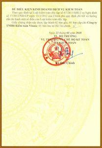 Điều kiện hành nghề kiểm toán Vinasc